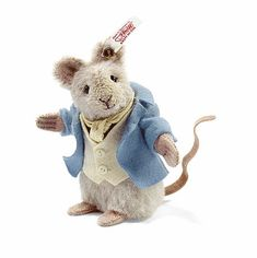 Steiff Beatrix Potter  Johnny Town Mouse UK  Limited Edition of 1500-Made of Gray Alpaca