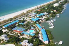 Captiva Island from the sky... And our house is right beyond the tennis courts!!!<3