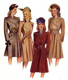1940's Winter coats  with <3 from JDzigner www.jdzigner.com
