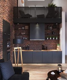 Best Inspiration Industrial Interior Design Ideas for Your Home Decor Industrial Loft Apartment Architecture And Designs For Inspiration Industrial Interior Design, Industrial Apartment, Industrial Interiors, Kitchen Industrial, Industrial Style, Vintage Industrial, Modern Interiors, Contemporary Interior, Industrial Furniture
