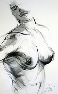 As she whispers.. A woman with have of her face seen along with her upper body in this black and white piece of art.