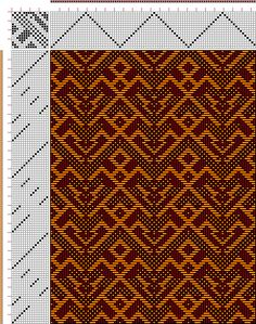 Hand Weaving Draft: Firebird 16s point twill, Drafted by author, 16S, 16T - Handweaving.net Hand Weaving and Draft Archive
