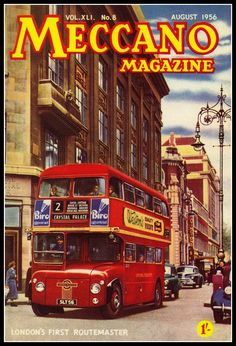 Prototype Routemaster featured on the cover of Meccano magazine August 1956.