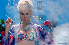 chic bbq: anmari botha by miles aldridge for vogue italia may 2013