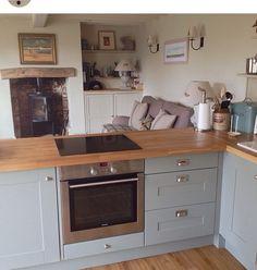 Duck egg blue kitchen                                                       …