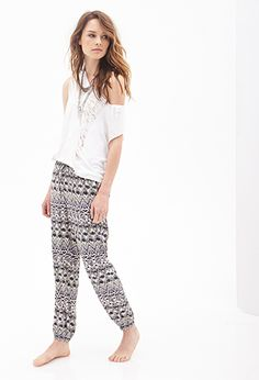Tribal Print Woven Joggers | FOREVER21 - 2000136951