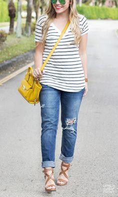 2014 BF Jeans c/o Aeropostale| Stripes Tee c/o LAmade| Phillip Lim for Target Satchel | JustFab Sandals