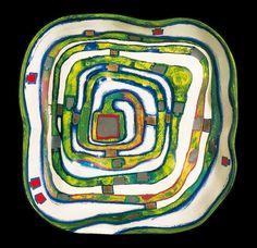 Hundertwasser : 857 Spiral Valley, Ceramic object, 1983 : Source : http://www.hundertwasser.at/showpic.php