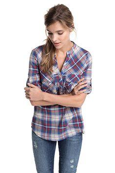 Shop New Season Blouses & Shirts Elegant, Plaid, Seasons, Shirts, Shopping, Tops, Style, Fashion, Tunics
