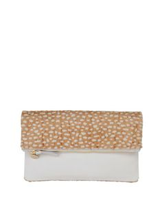 Supreme Calf Hair Fold-Over Clutch Bag by Clare Vivier at Neiman Marcus.