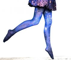 Cloud Galaxy Tights