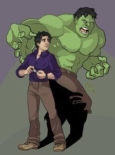 Mark Ruffalo as Bruce Banner/The Hulk.  Art by sephiramy.