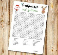 Julinspirerat ordpussel 4   Gratis printables att skriva ut till jul