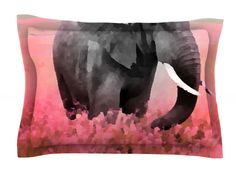 Ele-Phant by Oriana Cordero Pink Cotton Pillow Sham