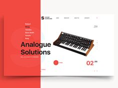 Site for Sound Surround - analog synth shop Home page animation. The process. Don\'t forget to follow us on Behance https://www.behance.net/sergey_tomchuk Thank you!