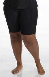 AquaSport Long Fitted Boy Short | Womens Plus Size Swim Shorts| JunoActive