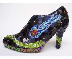 stained glass shoe..very cool