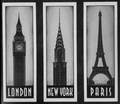 London,NY and Paris