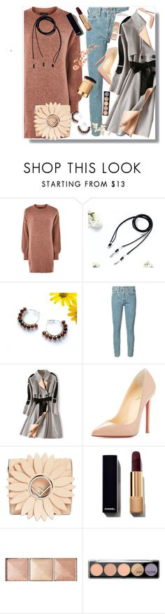 """""""Nine carp studio store"""" by eldinreham ❤ liked on Polyvore featuring Topshop, RE/DONE, Christian Louboutin, Fendi, Hourglass Cosmetics and MAKE UP FOR EVER"""