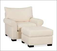 Comfy looking armchair and ottoman
