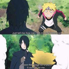 Sasuke! No stop teaching the poor child your bad tricks!