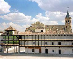 Main square of the village of Tembleque, Toledo, Spain