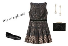 """Winter night out"" by adar1018 ❤ liked on Polyvore featuring Bebe, Vince Camuto and Anne Klein"