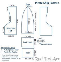 pirate ship template printable - Google Search … | Kids Cra…