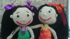 Azucenassss: Muñecas tejidas al crochet en hilo de algodón. http://faroleraytropezon.wix.com/juguetesartesanales