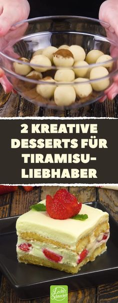 Line the box shape with ladyfingers. Then it goes to . Dann geht's ans Filetieren. 2 creative desserts for Tiramisu lovers. Dessert Sauces, Dessert Recipes, Kreative Desserts, Torte Recipe, Breastfeeding Foods, Chocolate Torte, Baked Strawberries, Pudding Desserts, Le Chef
