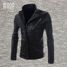 Black brown PU leather jacket coat men slim fake leather motorcycle jackets veste cuir homme cappotto LT259 free shipping