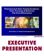This report provides benchmarks for pharmaceutical sales training program size, cost, scope, content, delivery channels, lessons learned, and success drivers. - See more at: http://www.best-in-class.com/bestp/domrep.nsf/products/pharmaceutical-sales-training-excellence-tools-processes-resources-that-drive-sales-force-effectiveness!OpenDocument