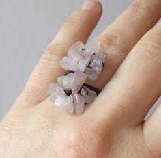 #Rose #quartz #pink #ring #heart #chakra #healing #stone# jewelry