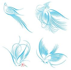 Spencerian Bird | ... Bouquets, and Galveston Bay: Free calligraphy birds for your wedding
