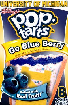 I don't eat pop tarts but. U Of M Football, Michigan Wolverines Football, Football Stuff, Michigan Go Blue, Michigan Game, Go Big Blue, Blue Devil, University Of Michigan, Good Ole