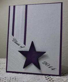 graduation cards Grad Star by Holstein - Cards and Paper Crafts at Splitcoaststampers Graduation Cards Handmade, Greeting Cards Handmade, Graduation Greetings, Graduation Ideas, Graduation Scrapbook, Star Cards, Fathers Day Cards, Paper Cards, Cards Diy