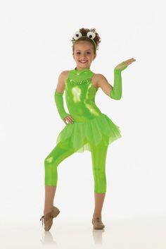 FUNKY FROG Capri Unitard w/Headpiece Dancewear Dance Costume Child Small & 2-3yr #Cicci