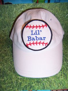 a68574d0ee5 Infant and Toddler size Baseball Hats.... PERSONALIZED with baby name