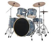 Blauw drumstel    In mijn tijd als drummer van een bluesband bezat ik een Gretsch  drumstel