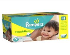 Pampers Swaddlers Size 5  Pampers Swaddlers Diapers are the Number 1 choice for hospitals and have a blanket of superior softness that gives babies the feeling of comfort and security. #babygifts #babyshower #babygear #babyseats #diapers #nursery #strollers