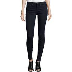 rag & bone/JEAN High-Waist Skinny-Leg Jeans (€185) ❤ liked on Polyvore featuring jeans, indigo, skinny jeans, zipper jeans, fitted jeans, highwaist jeans en highwaisted jeans