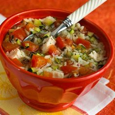 must try this. Wild Rice Chicken Soup