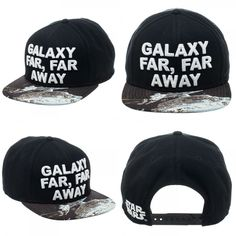 New Star Wars Hat GALAXY FAR FAR AWAY Black Hat Cap LOGO Snapback Costume  Hat  StarWars  BaseballCap f40b968707a9