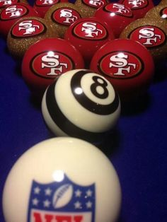 - cute for football season game parties! Niners Girl, Sf Niners, Forty Niners, 49ers Fans, Nfl 49ers, 49ers Nation, Football Stadiums, Football Season, Football Team
