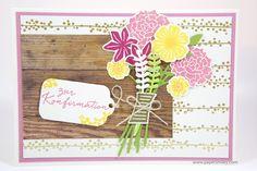 Konfirmationskarte mit Stampin' Up! - Blüten des Augenblicks - Beautiful Bouquet