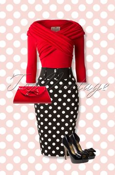 You'll knock many men off their feet in this retro look, oh la la. >>love this outfit Mode Rockabilly, Rockabilly Fashion, Retro Fashion, Vintage Fashion, Rockabilly Clothing, Fashion Mode, Look Fashion, Womens Fashion, Fashion Trends