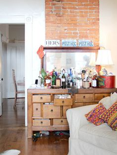Arty Bar Cart!!Bar Carts and Liquor Cabinets Best of 2012 | Apartment Therapy