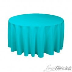 120 Inch Round Polyester Tablecloth Turquoise On A 60 Inch Round Table From  LinenTablecloth