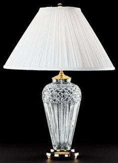 Waterford Crystal Lamp in Living Room @ Lamps Plus