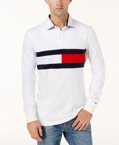 1b1f8101a Tommy Hilfiger Men's Jim Rugby Logo Shirt - White XL Polo Shirt White,  Tommy Shop